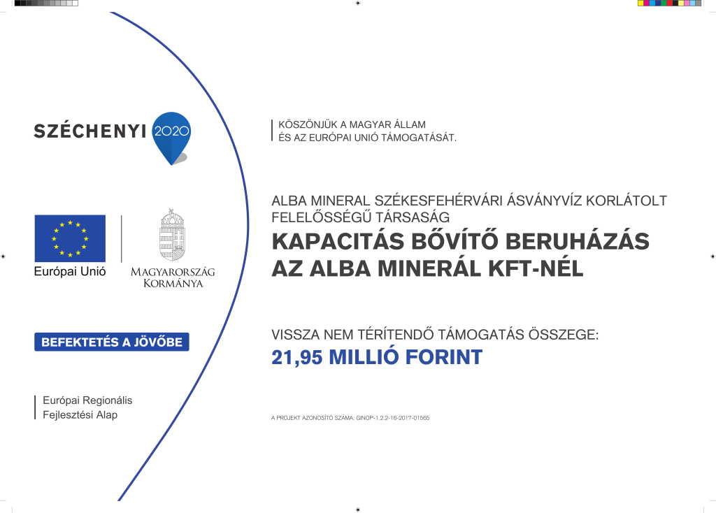 Kapacitás bővítő pályázat megvalósítása az Alba Mineral Kft-nél